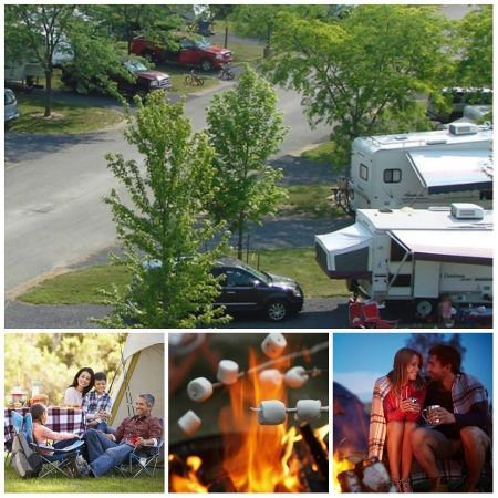 Fulton Campgrounds and Camping Collage